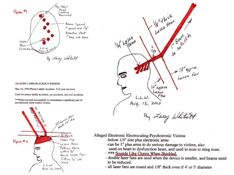 Whitsitt's drawings of DEW attacks | Targeted Individuals Canada